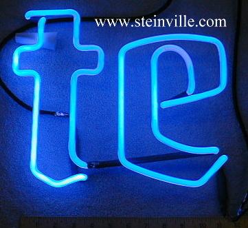 Miller neon beer sign tubes & parts #2: Miller lite neon te JPG